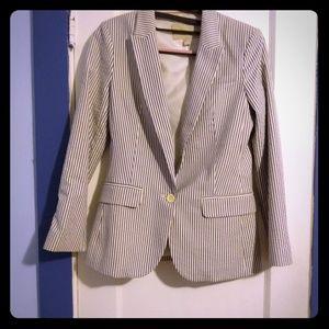 Banana Republic pinstripe lined blazer